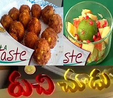 Fruits with Toffee Syrup,Potato and Cheese Balls – Ruchi Chudu 14th Sep
