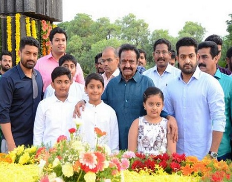 Celebs Pays Tribute to NTR At NTR Ghat Photos