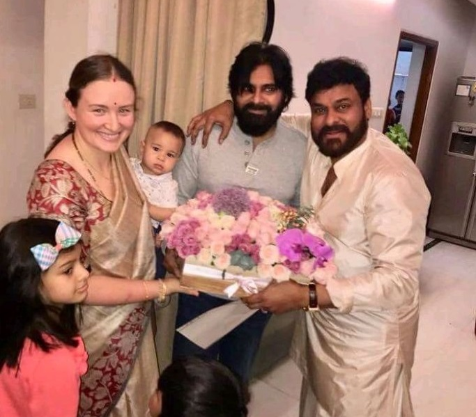 Pawan With Family Meets Chiru on his birthday – gallery